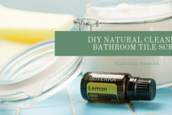 diy bathroom natural tile scrub